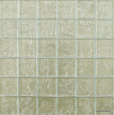 Silver Leaf Glass Mix Mosaic 5 x 5cm