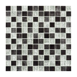 Rusland Black Silver Glass Mosaic 23 x 23