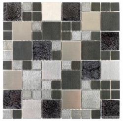 Metallic Modular Chrome Mix Mosaic  30 x 30cm