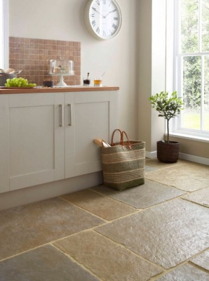 Somerset Autumn Sandblasted & Brushed Limestone Floor 600x600mm