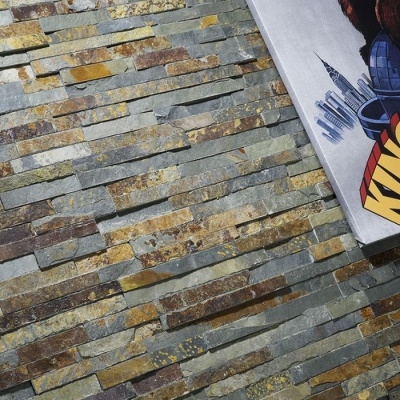 Multi Colour Split Face Slate Cladding 100x360mm