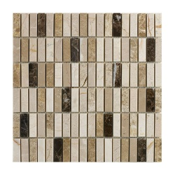 Emperador Mix Polished Marble Mosaic 15 x 50