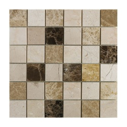 Emperador Mix Polished Marble Mosaic 50 x 50