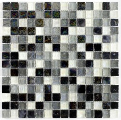 Hammered Pearl Black & White Mix   25 x 25cm