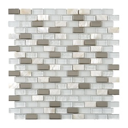 Blanco Pearl Mix brick with chrome & mother of Pearl