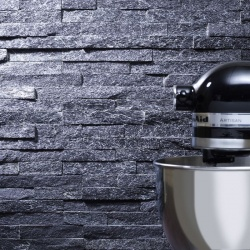 Black Sparkle Slate Cladding 100x360mm